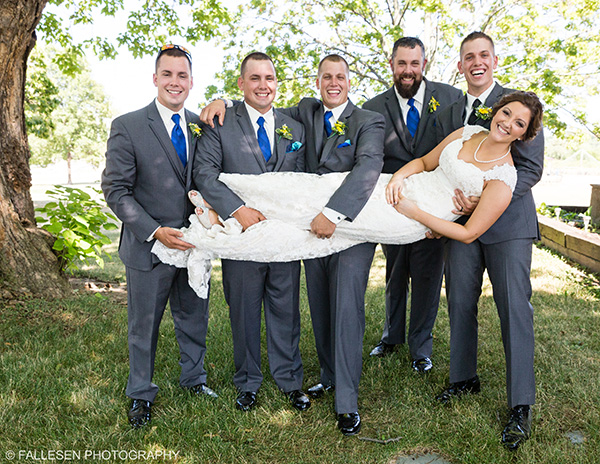 Heitzenrater Wedding | Lockport, NY - Bride and Groomsmen