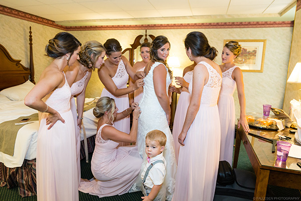 LiVoti Wedding | Akron, NY - Bride and Bridesmaids