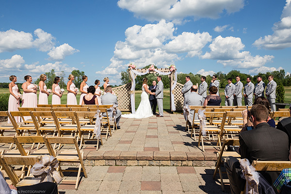 LiVoti Wedding Ceremony at Timberlodge, Arrowhead Golf Course. Akron, NY by Fallesen Photography LLC.