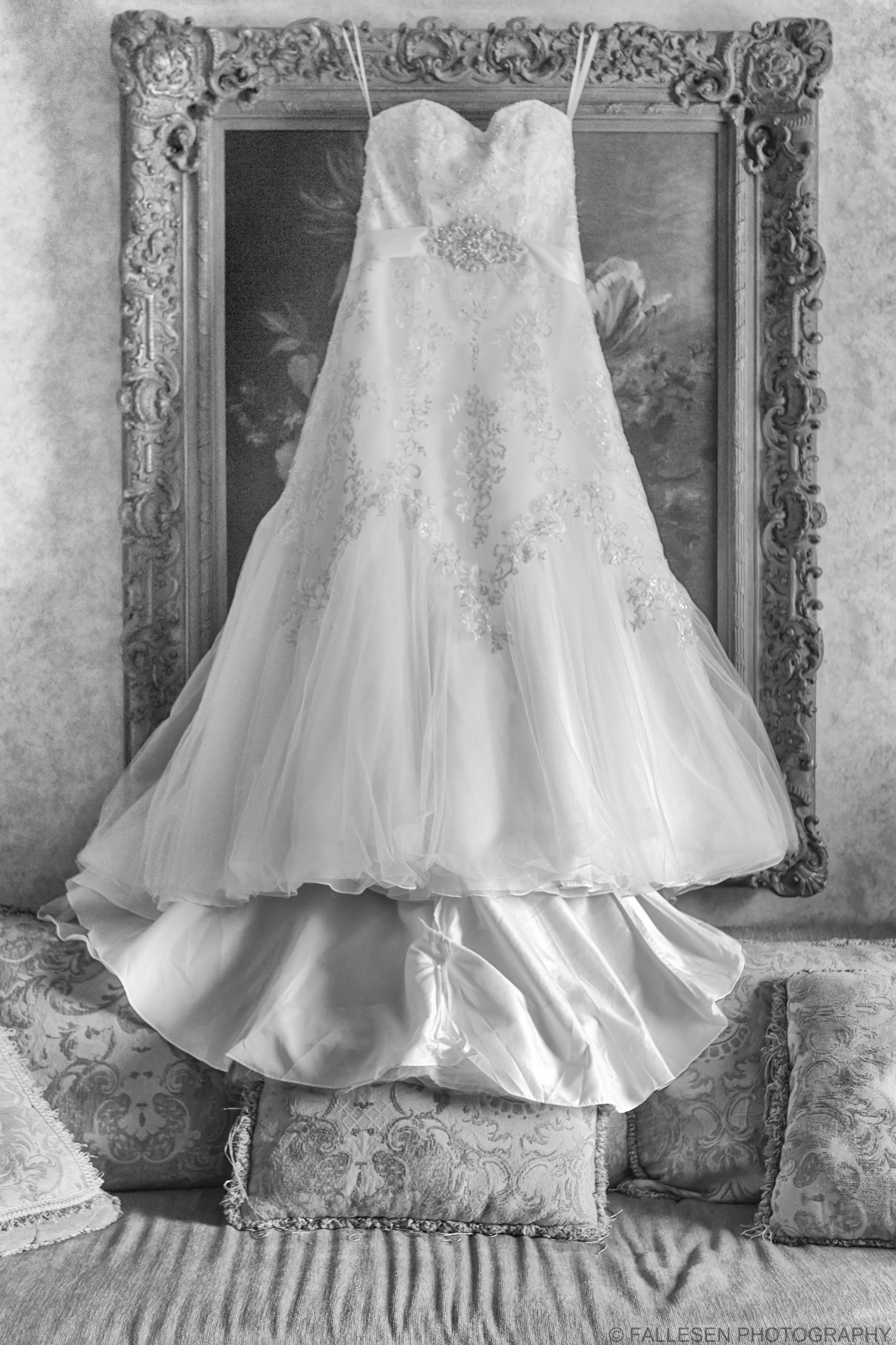 Before wedding photo Herberger Wedding, wedding gown at Salvatore's Grand Hotel in Buffalo, NY by Fallesen Photography LLC