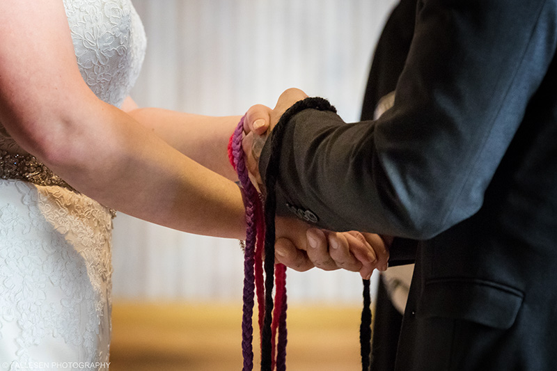 Handfasting ceremony Grasso Buffalo NY Wedding Pearl at the Webb by Fallesen Photography