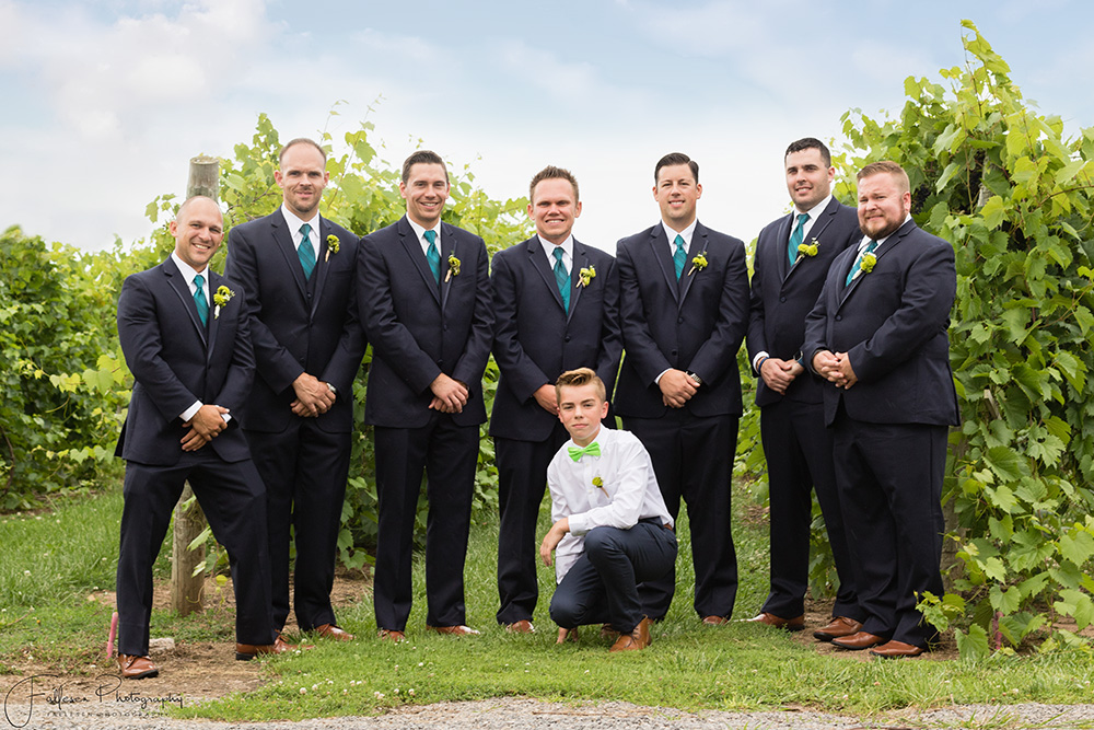 Groomsmen Becker Farms Wedding in Gasport, NY by Fallesen Photography