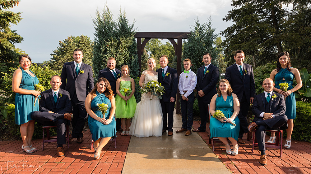Zdziebko Wedding Party Formal, Becker Farms Wedding, Gasport NY, By Fallesen Photography